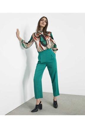 İpekyol Kadın Yeşil Fular Bağcıklı Bluz IW6190006107070