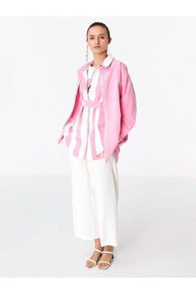 Twist Kadın Beyaz Culotte Form Pantolon TS1200003039018