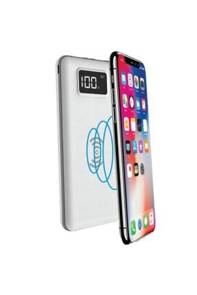 S-LINK Ip-g10w 10000mah Lcd Göstergeli Kablosuz Powerbank Beyaz