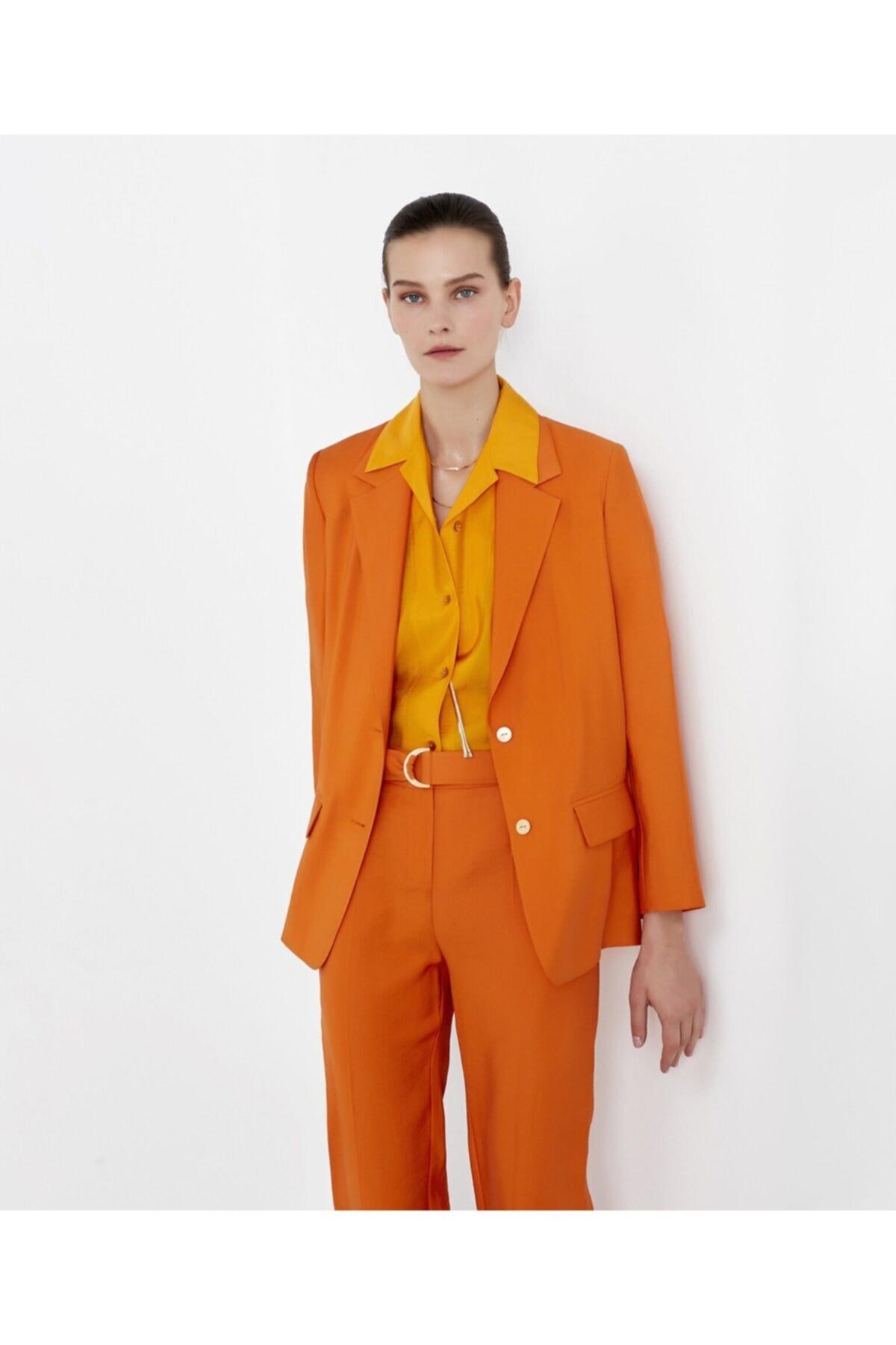 İpekyol Kadın Turuncu Sırt Detaylı Ceket 1