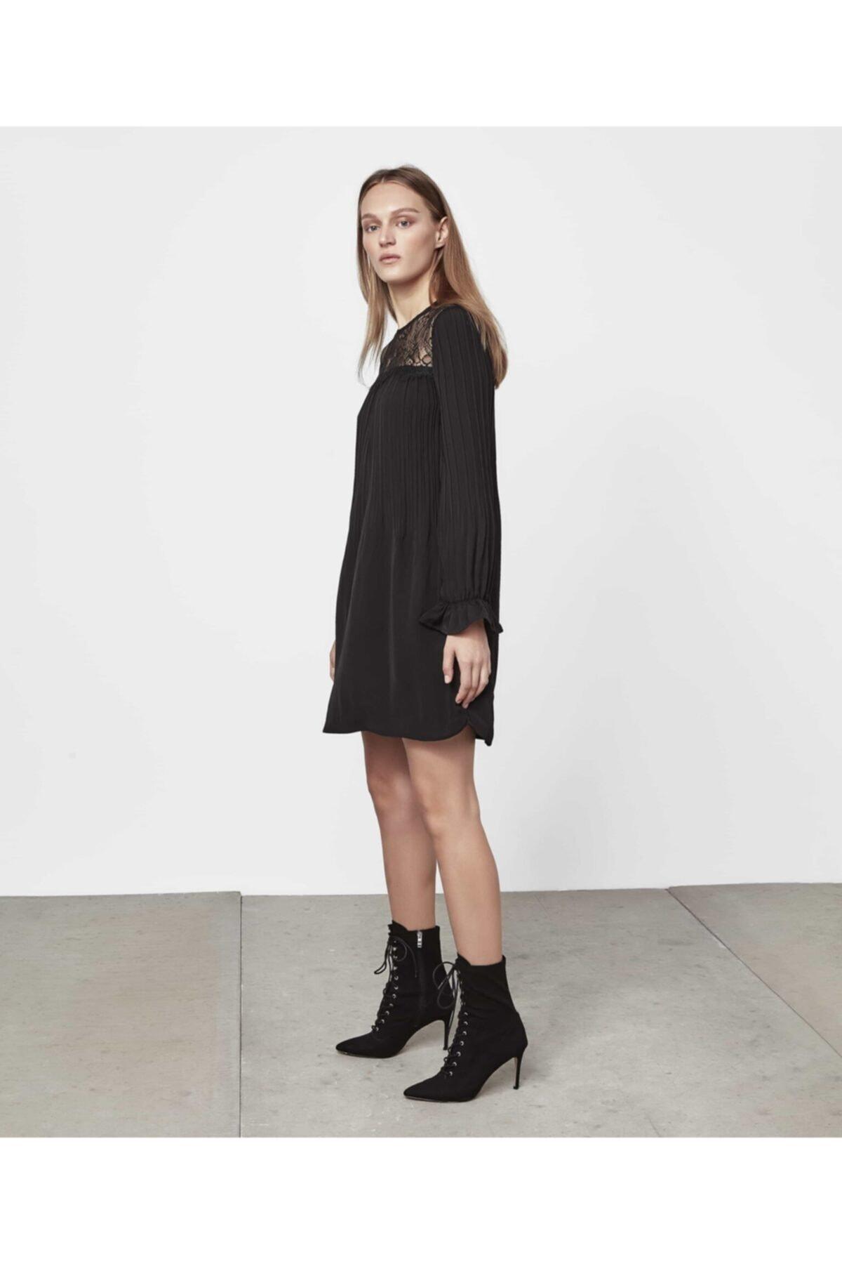 İpekyol Kadın Siyah Dantel Mix Elbise IW6190002458001 2