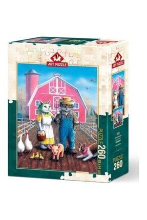 Art Puzzle Kedi Çiftliği 260 Parça Puzzle