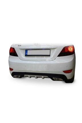 Universal Hyundai Accent Blue Difüzör Çift Egzoz Çıkışlı Arka Tampon