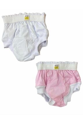 MOMSTAR Bebek Alıştırma Kilodu Veya Deniz Külodu Pembe Beyaz 2 Adet ( 2-3 Yaş )(15-20 Kg)