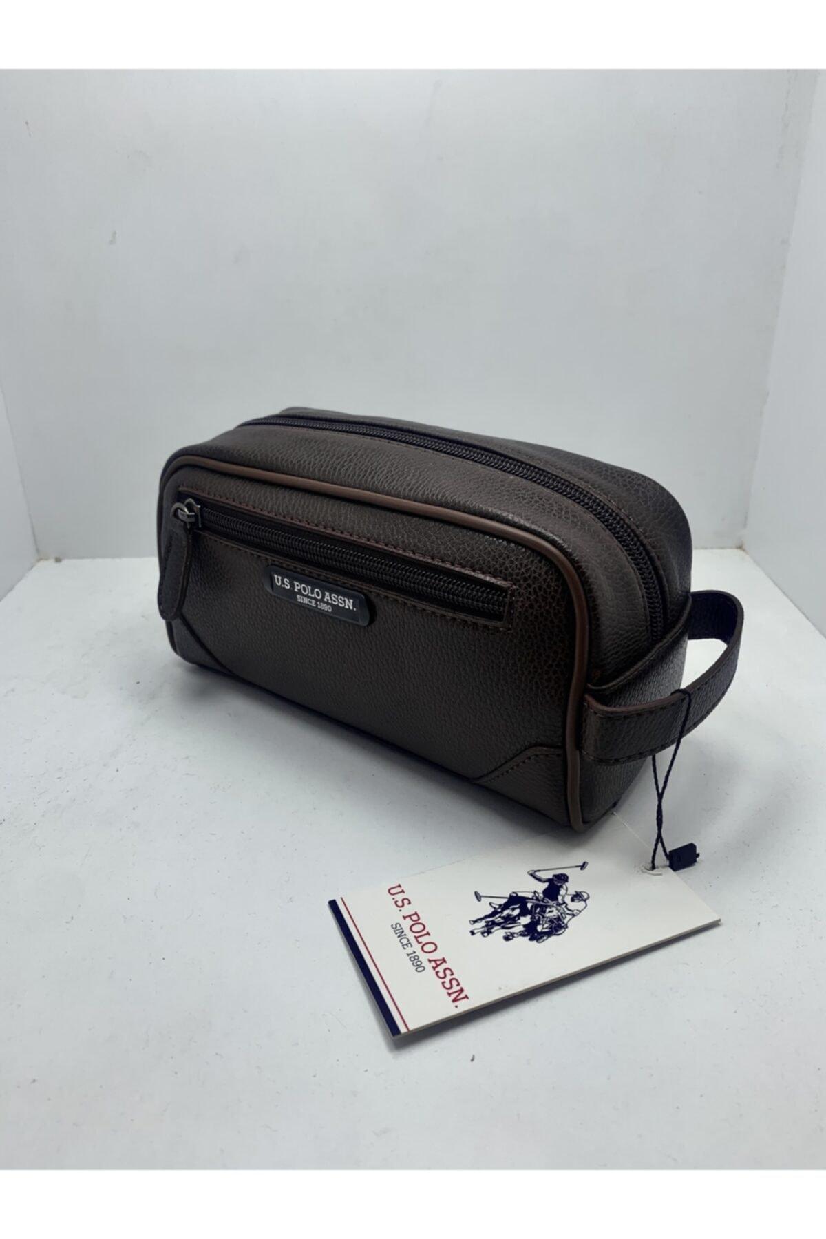 U.S. Polo Assn. Unisex Kahverengi El Çantası 1