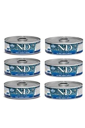 N&D Nd Ocean Morina Balığı Karides Ve Balkabaklı Konserve Yavru Kedi 80gr 6adet Balıklıkonserve
