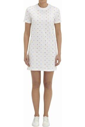 Calvin Klein Kadın Beyaz Puanlı Elbise