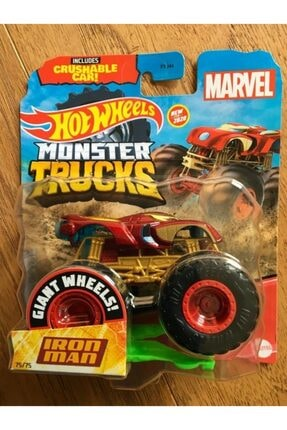 HOT WHEELS Marvel Iron Man Demir Adam Monster Trucks 1:64 Arabalar