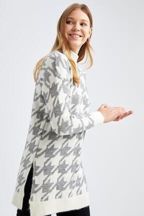 DeFacto Kadın Ekru Sleeve Triko Tunik