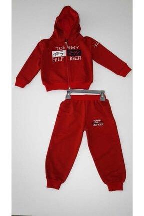 Tommybaby Kırmızı Erkek Çocuk Kapşonlu Takım