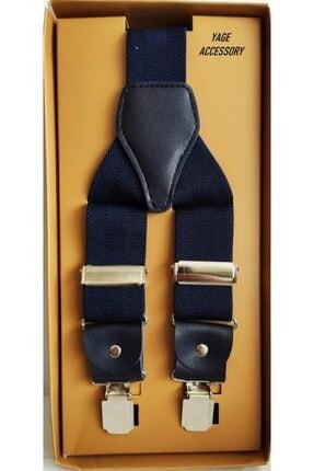 Yage Unisex Lacivert Pantolon Askısı 3.5 cm