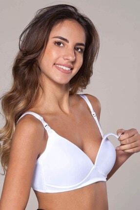 Lohusa Sepeti Kadın Beyaz Balensiz Soft Cup Emzirme Sütyeni 2'li Paket 9129