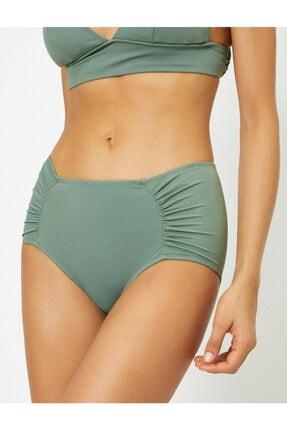 Koton Kadın Yeşil Büzgülü Bikini Alti