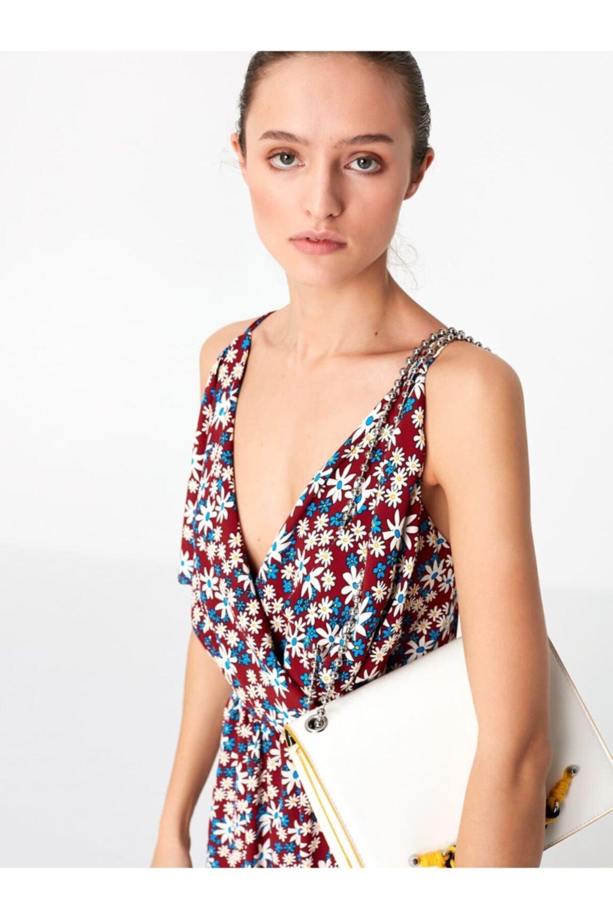 Twist Kadın Çiçek Desen Elbise 2