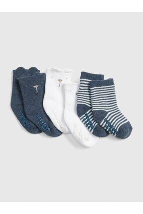 GAP Erkek Bebek 3'Lü Brannan Bear Çorap Seti