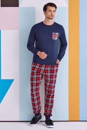 ROLY POLY Erkek Lacivert Uzun Kol Pijama Takımı  rpoly1337s