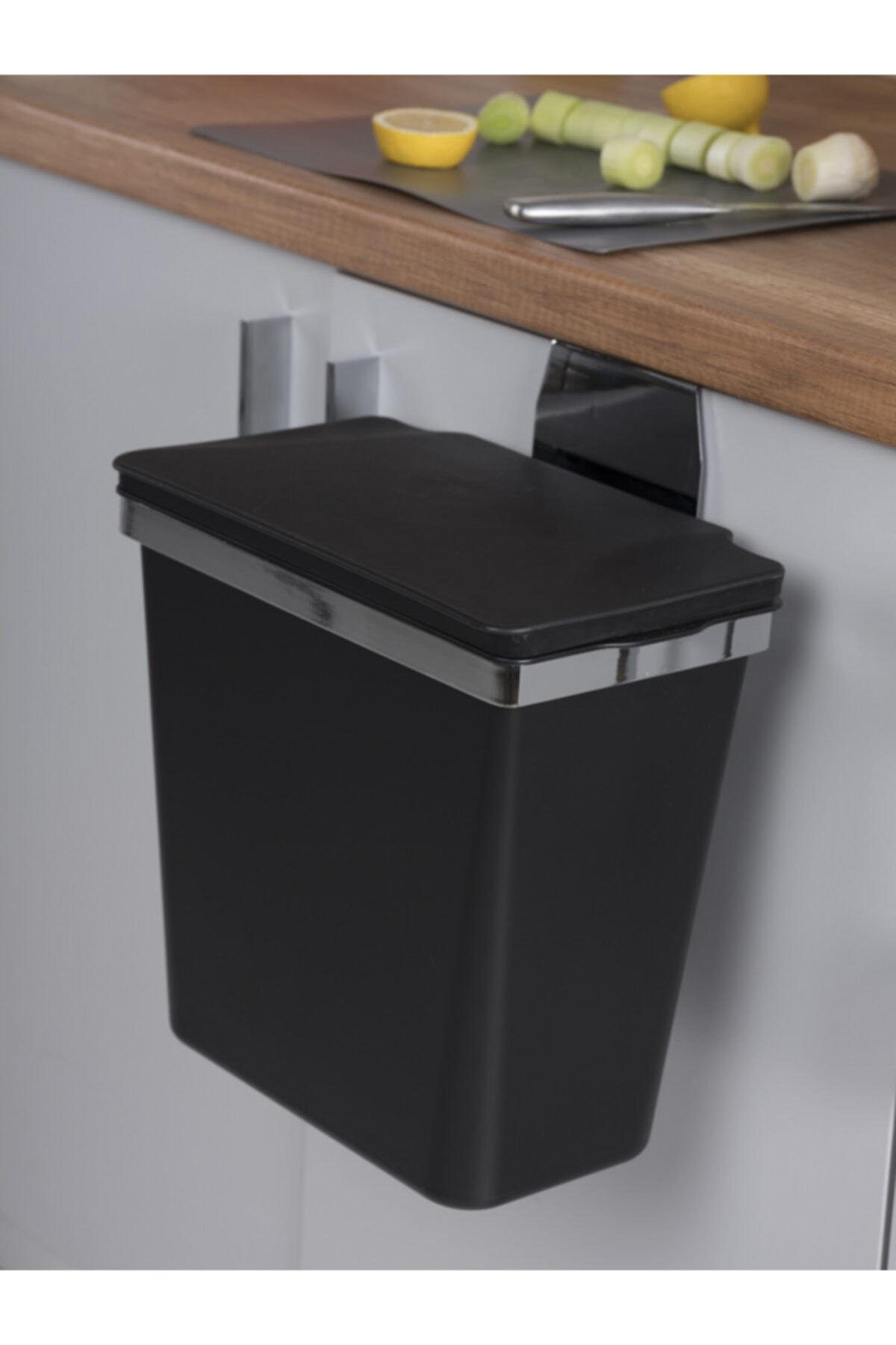 Pelikan Metal Askılı Mutfak Çöp Kovası-siyah 11 Lt 2