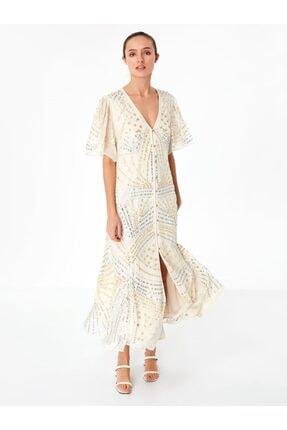 Twist Kadın Payet İşlemeli Gömlek Elbise