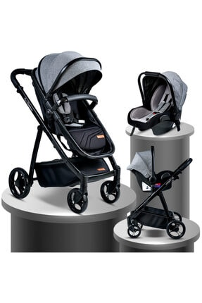Baby Home Siyah Bh 955 Gold Vip Travel Sistem Bebek Arabası ve Puset
