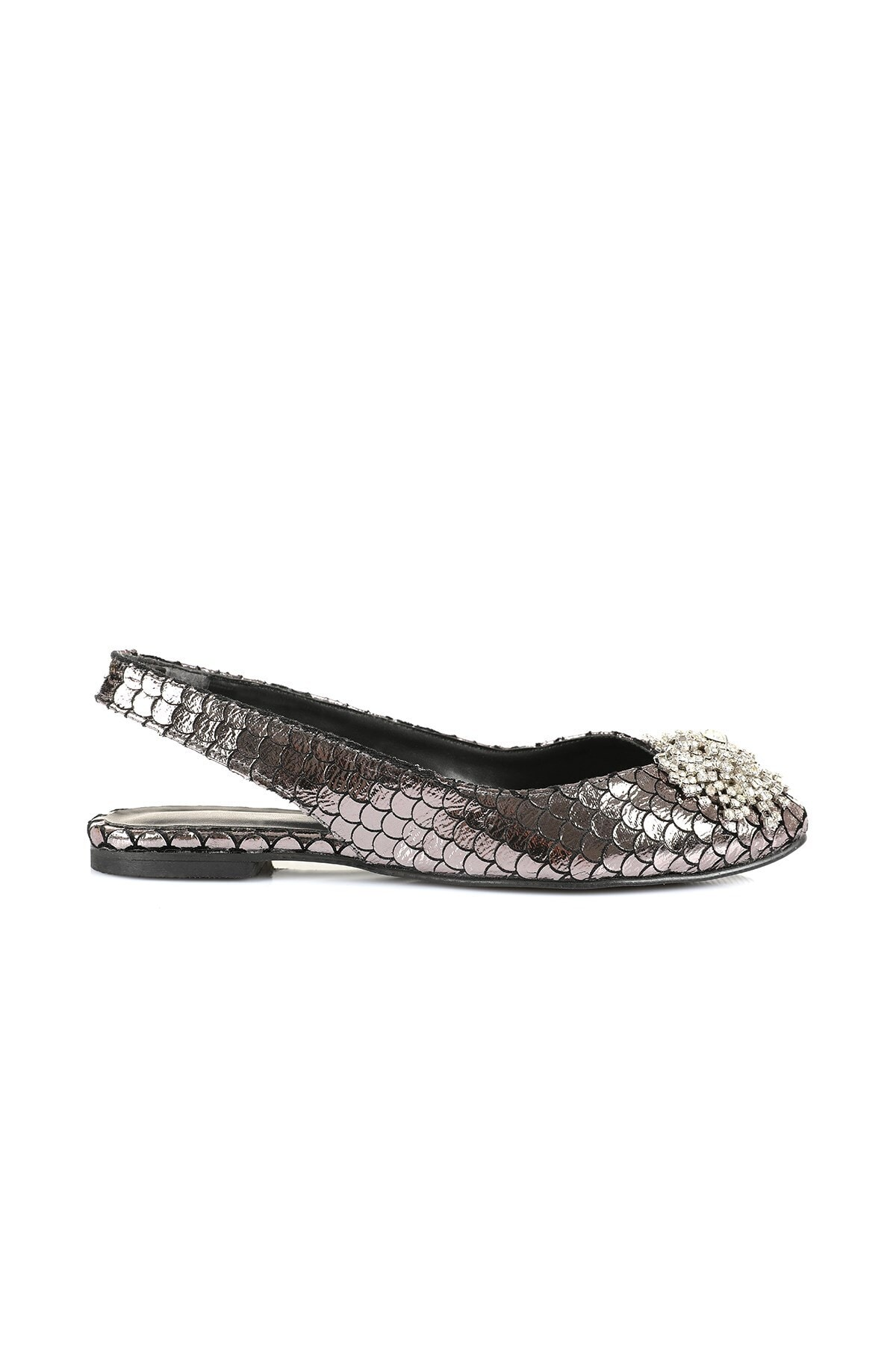 Oblavion Kadın Platin Taş Detaylı Sandalet 1