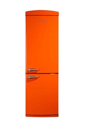 Vestel Retro NFK350 Turuncu A+ Kombi No-Frost Buzdolabı
