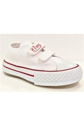 MP Unisex Çocuk Beyaz -Siyah  Beyaz Cırtlı Işıklı Spor Ayakkabı