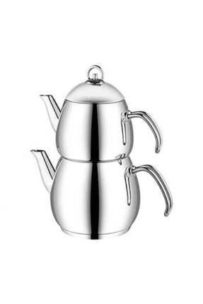 Aryıldız Gri Metal Saplı Çaydanlık