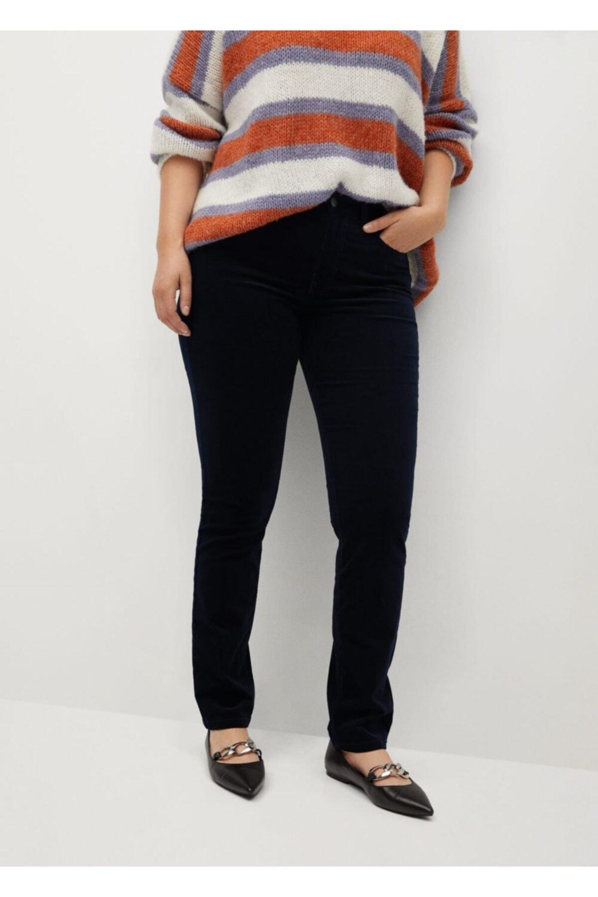 Violeta by MANGO Kadın Lacivert Pantolon 2