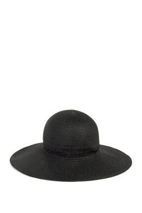 Mavi Siyah Hasır Şapka