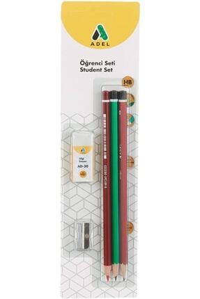 Adel Öğrenci Seti 2 Kurşun Kalem+ 1 Kırmızı Kalem+1 Silgi Ve 1 Kalemtıraş