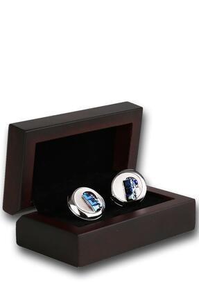 Kravatkolik Erkek Gümüş Renk Mor Taşlı Kol Düğmesi Kd1238