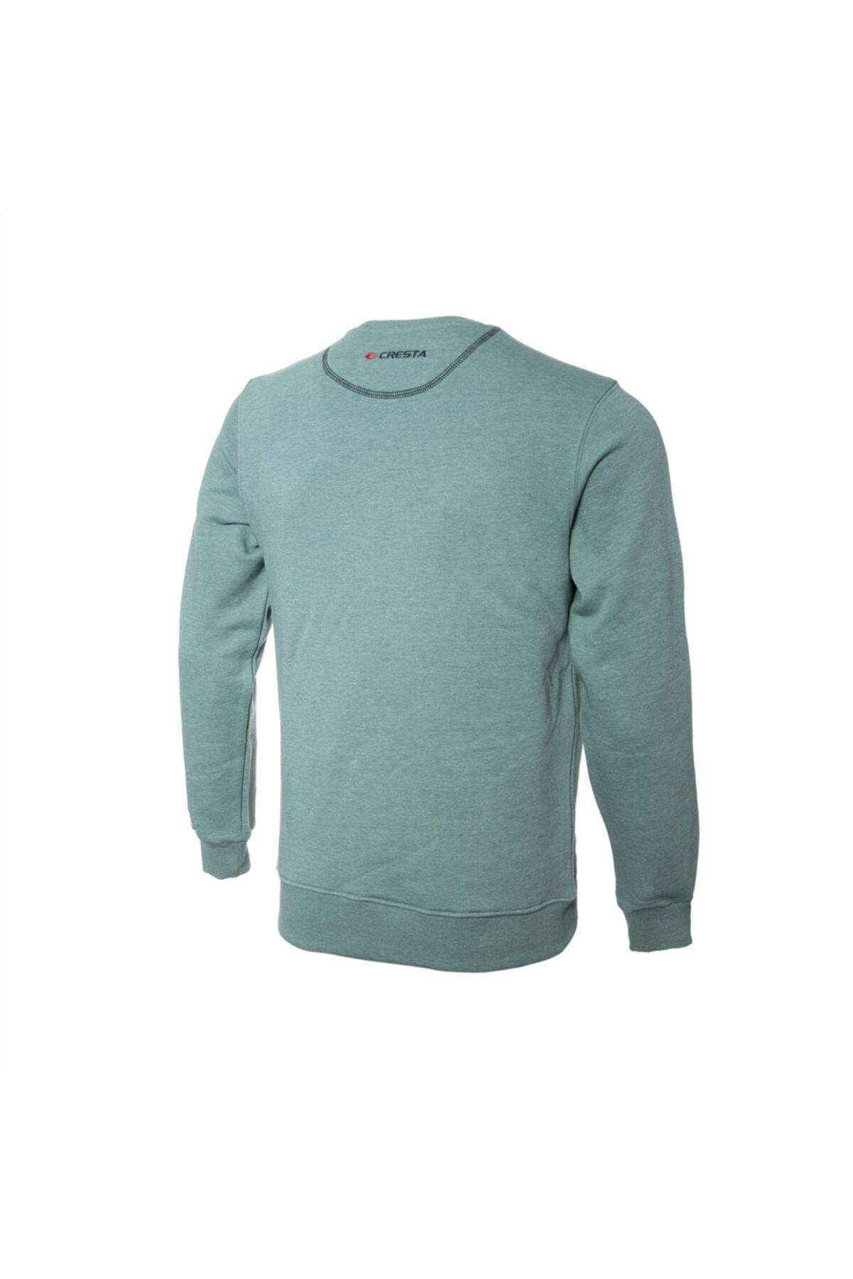 Cresta Erkek Yeşil Basic Outdoor Sweatshirt 2