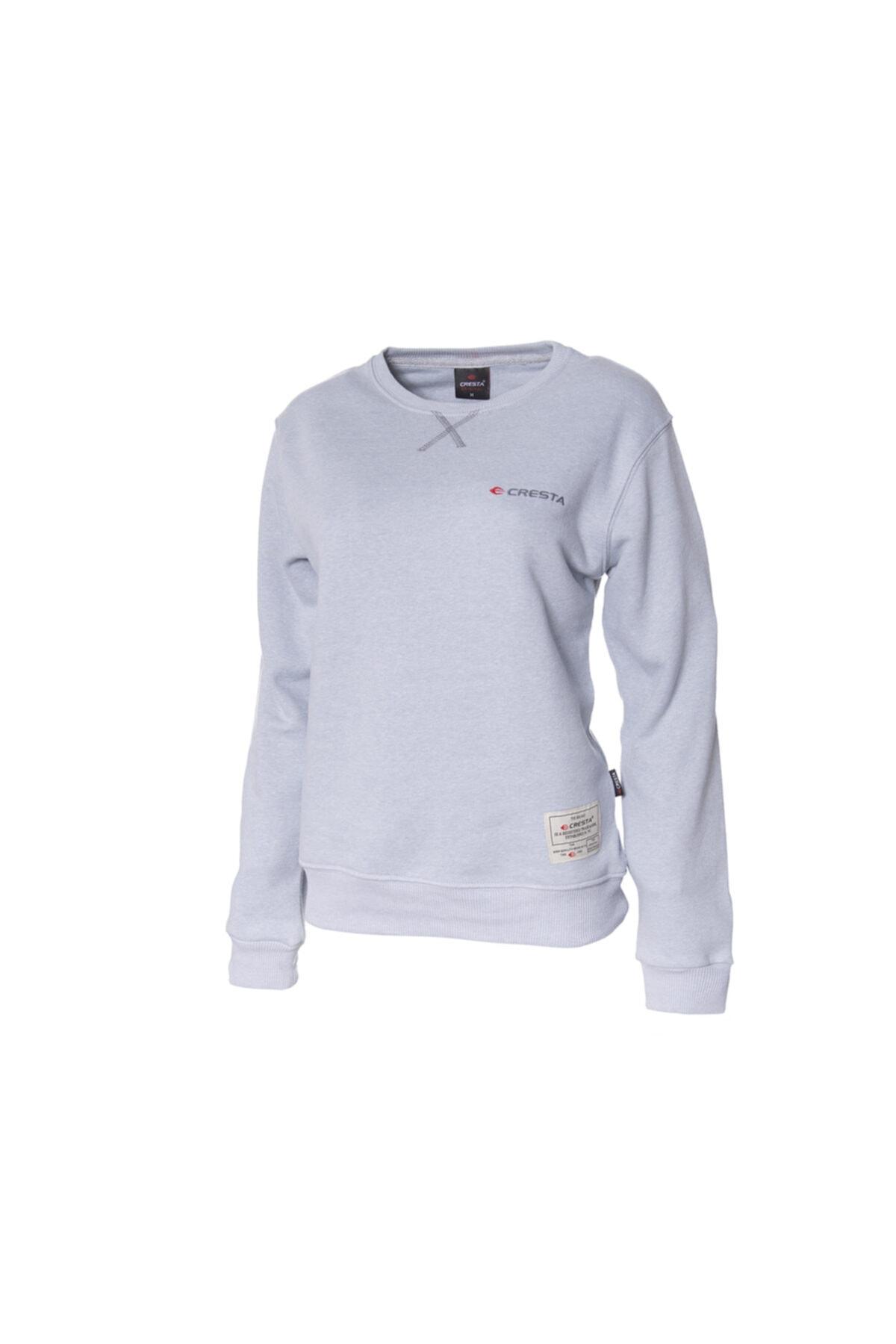 Cresta Kadın Gri Basic Outdoor Sweatshirt 1