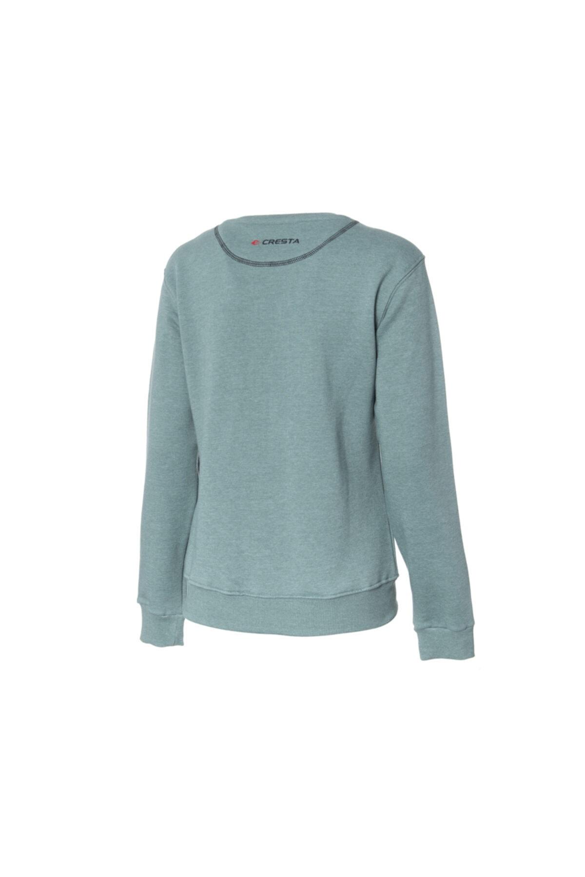 Cresta Kadın Yeşil Basic Outdoor Sweatshirt 2