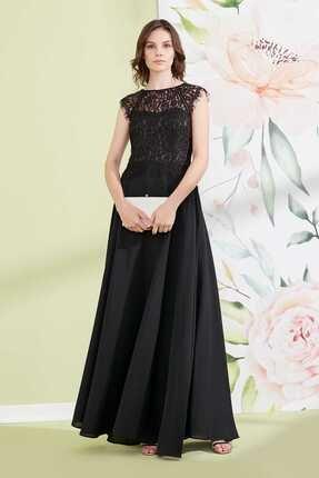 Journey Kadın Siyah Uzun Abiye Elbise 19YELB153