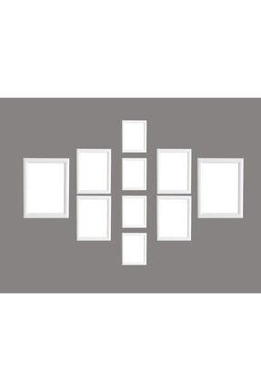 oversstore Dekoratif Palet Çoklu Çerçeve Beyaz (Model 1)