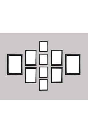 oversstore Dekoratif Palet Çoklu Çerçeve Siyah (MODEL 1)