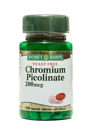 Nature's Bounty Chromium Picolinate 200 Mcg 100 Tablet 074312063909