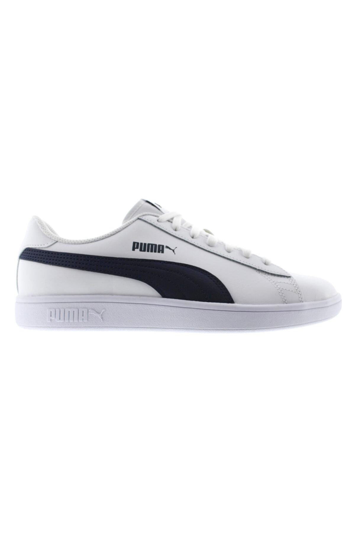 Puma Erkek Beyaz Smash V2 Leather Sneaker 1