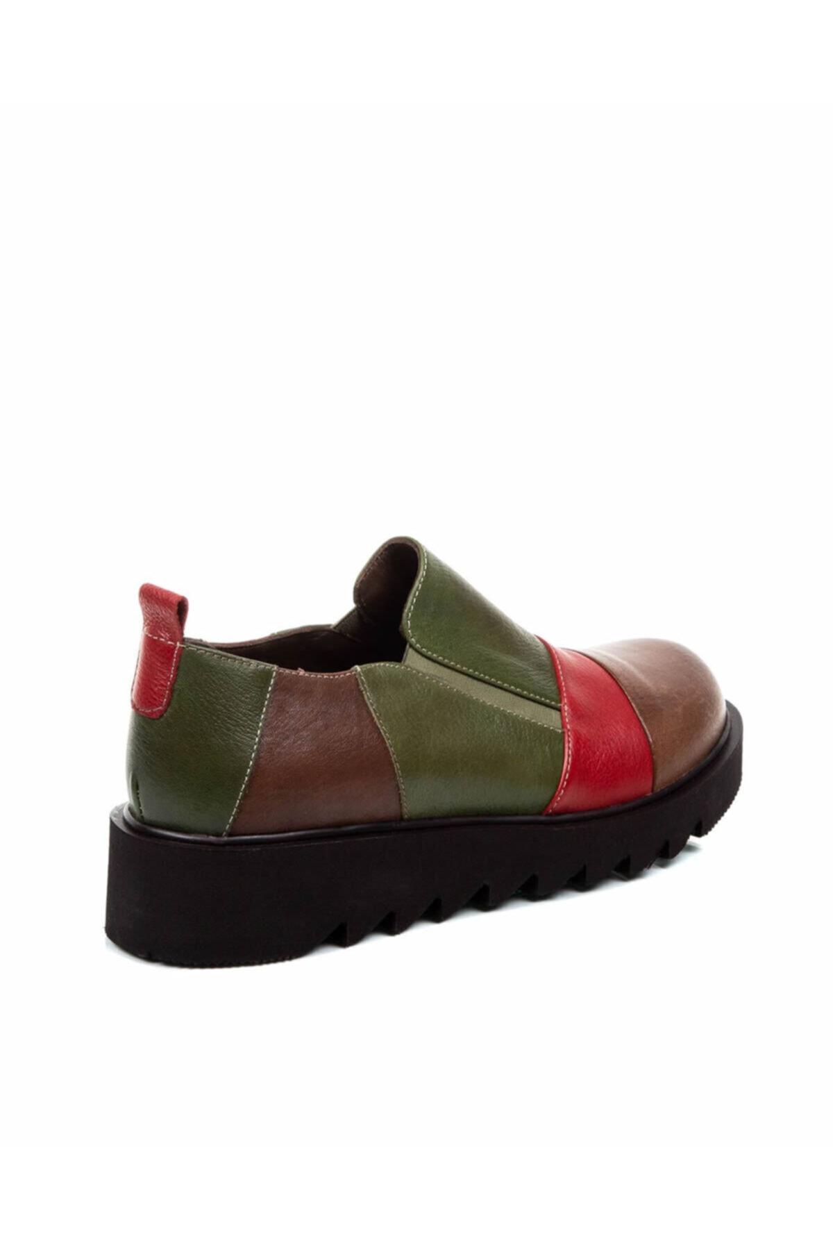 Beta Shoes Kadın Taba Hakiki Deri Casual Ayakkabı 2