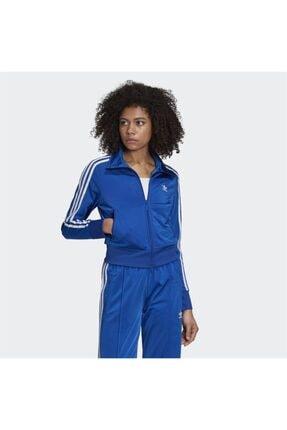 adidas Kadın Mavi  Fermuarlı Spor Ceket