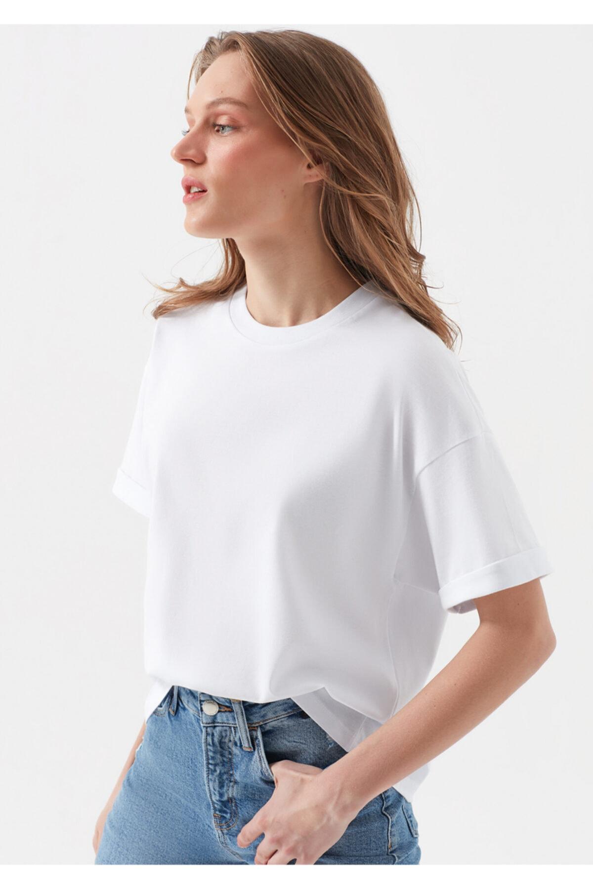 Mavi Beyaz Tişört 1
