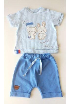 Flexi Erkek Bebek Mavi Şortlu Takım