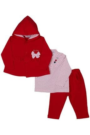 Pierre Cardin Üçlü Kız Bebek Takım 300176