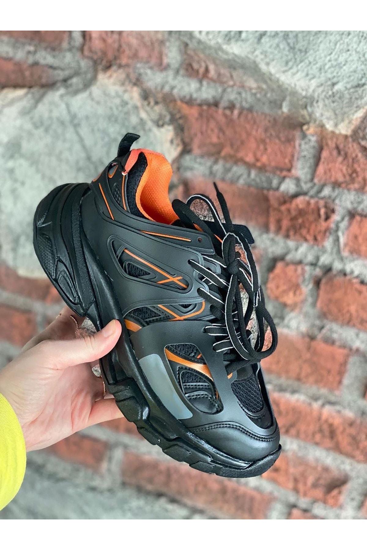 NOVELYA Unisex Siyah Yüksek Taban Sneaker 2