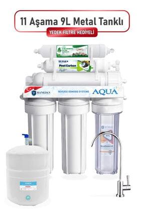 Hanedan Reverse Osmosis 11 Aşamalı 9 Litre Çelik Tanklı Yüksek Mineral Filtreli Su Arıtma Cihazı