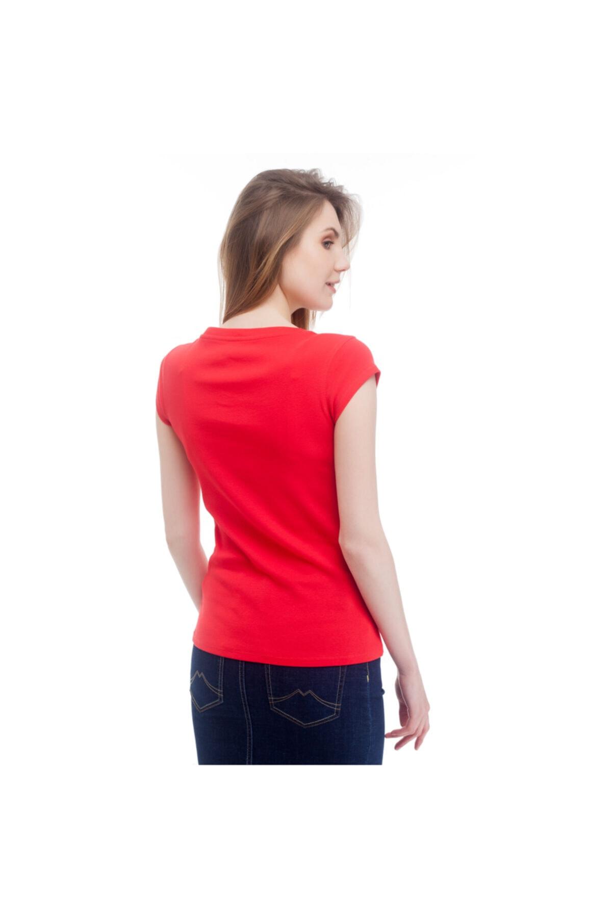 Mustang Kadın T-shirt Kırmızı 2