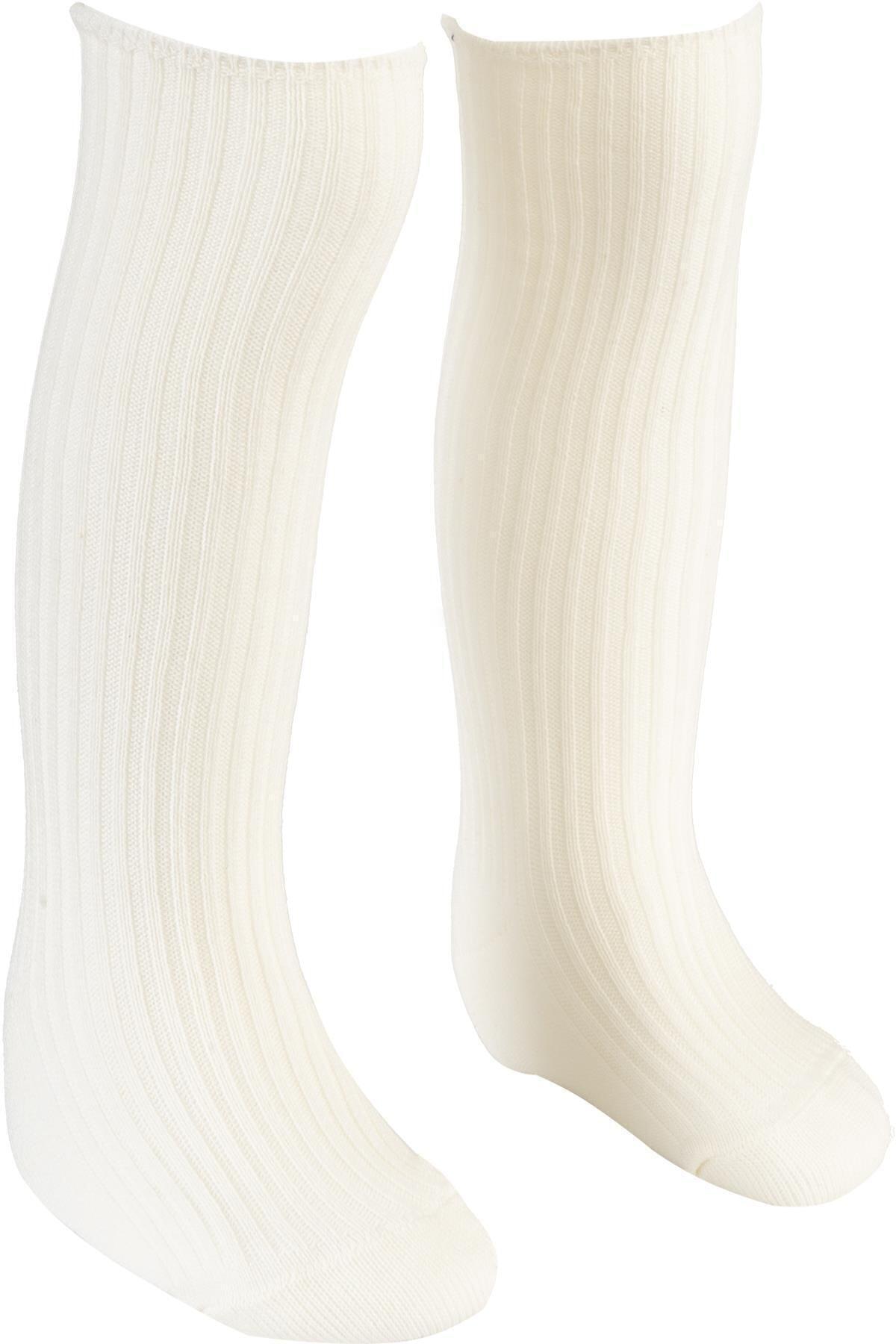 BEBEĞİME ÇORAP Krem Rengi Derby Dizaltı Çorap Kız-erkek Bebek / Kız- Erkek Çocuk 1