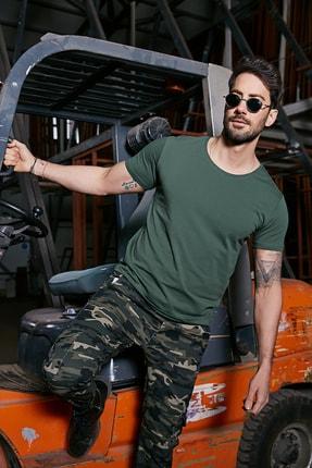 Sateen Men Erkek Yeşil B. Yaka Kısa Kol T-Shirt