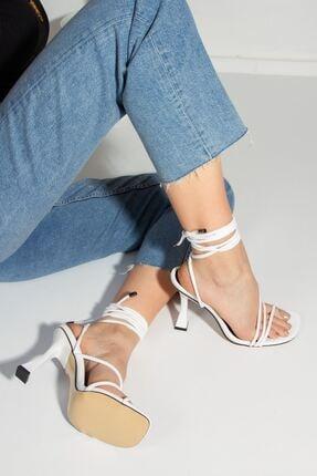 derithy Kadın Beyaz Royden Topuklu Ayakkabı-beyaz-byc1112